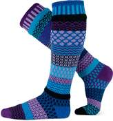 Solmate Socks Mismatched Knee High Socks, USA Made, Midnight Small