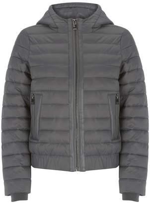 Mint Velvet Grey Hooded Padded Jacket
