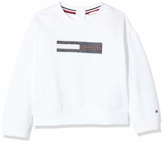 Tommy Hilfiger Baby Girls' Lurex Flag Slouchy Sweatshirt