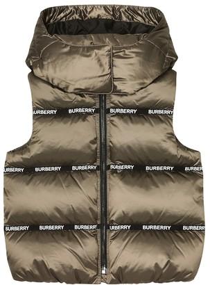 BURBERRY KIDS Hooded down vest