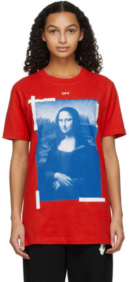 Off-White Red Mona Lisa T-Shirt