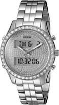 GUESS GUESS? Women's U0817L1 Dazzling -Tone Digital Multi-Function Watch