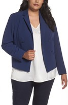 Sejour Plus Size Women's Crop Open Front Blazer