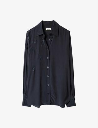 Zadig & Voltaire Tamara embellished crepe shirt