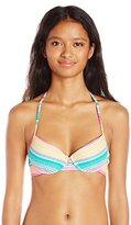 Hobie Women's Salt Air Stripe Push Up Underwire Bikini Top
