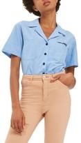 Topshop Women's Dreamer Chambray Shirt