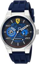 Ferrari Men's 'Speciale' Quartz Stainless Steel and Rubber Casual Watch, Color:Blue (Model: 830430)