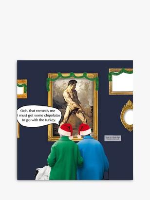 Cardmix Naked Man Christmas Card