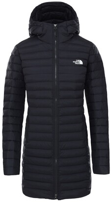 The North Face Long Stretch Down Padded Parka with Hood