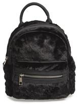 Street Level Faux Fur Backpack - Black