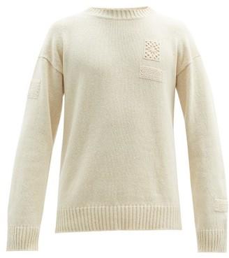 Jil Sander Crochet-applique Wool Sweater - Cream