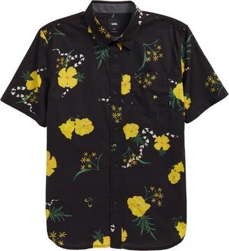 Vans Kids' Super Bloom Floral Short Sleeve Button-Up Shirt