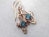 Etsy Blue Viola, Blue Zircon and Rose Gold Drop Earring by Elizabeth Henry T9JTPJ-D