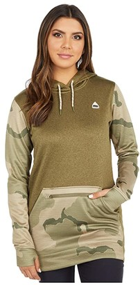 Burton Oak Long Hoodie Pullover (True Black Heather 1) Women's Sweatshirt