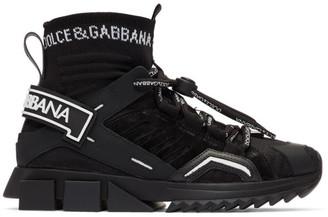 Dolce & Gabbana Black Trekking Sorrento High-Top Sneakers