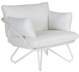 Novogratz Teddi Patio Chair with Cushions Frame Color: White