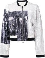 Aviu embroidered bomber jacket - women - Polyamide/Polyester/Viscose - 42