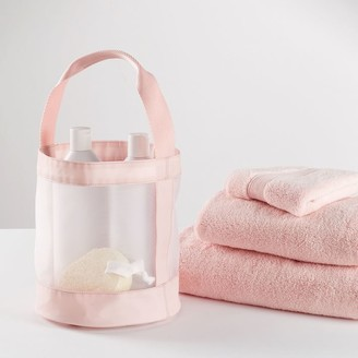 Pottery Barn Teen Blush Mesh Shower Caddy Bath Bundle