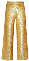 Ashish Sequin-embellished straight-leg cotton trousers