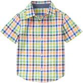 Gymboree Neon Plaid Seersucker Button-Up - Infant Toddler & Boys