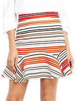 Oasis Stripe Flippy Skirt, Multi