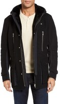 Black Rivet Men's Mixed Media Jacket