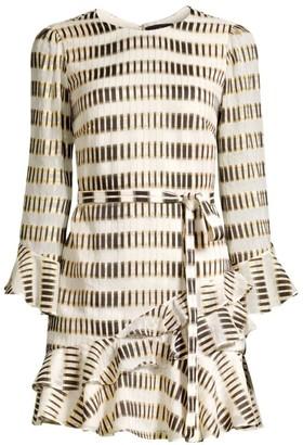 Saloni Marissa Geometric-Print Mini Dress
