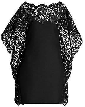 Valentino Women's Crepe Lace Cape Mini Dress
