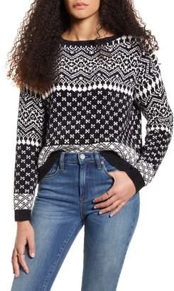 Love by Design Fair Isle Chenille Sweater