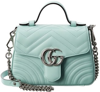 Gucci Gg Marmont Mini Top Handle Matelasse Leather Shoulder Bag