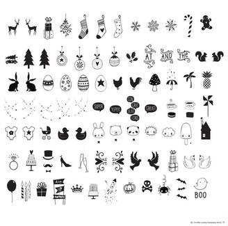 A Little Lovely Company Little Lovely Co. Light Box Letter Pack Celebration Symbols