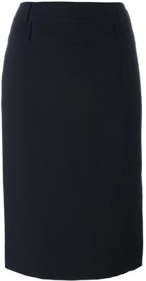 Christian Dior Pre-Owned side split skirt