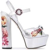 Dolce & Gabbana floral print platform sandals
