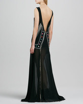 Mara Hoffman Embroidered Mini-Lined Backless Gown