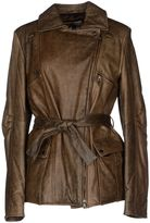 Mariella Burani Leather outerwear