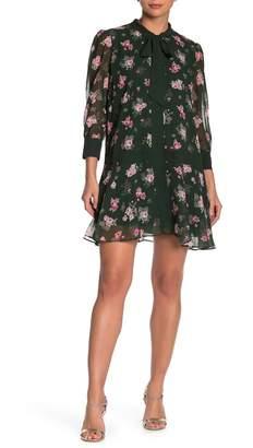 Alexia Admor Drop Waist Neck Tie Dress