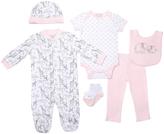 Cutie Pie Baby Pink Elephant & Giraffe Footie Set - Infant