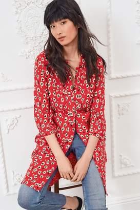 Next Womens Red Shirt Dress - Red
