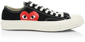 Comme des Garcons x Converse Play One Heart Low-Top Sneakers