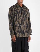 Yohji Yamamoto Camouflage-pattern oversized wool shirt