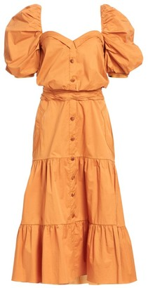 Johanna Ortiz Essence Of Silence Short Sleeve Dress