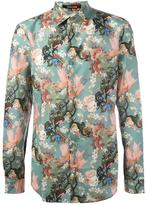 Roberto Cavalli asian garden print shirt