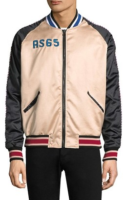 As65 Sporty Embroidered Flamingo Track Jacket