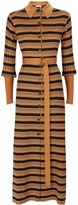Thumbnail for your product : Chloé Striped Belted Knitted Dress