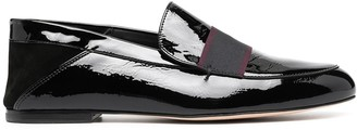 Paul Smith Vinyl Leather Slip-On Loafers