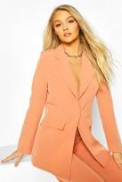 boohoo Cut Away Button Mix & Match Tailored Blazer