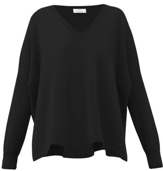 Allude V-neck Cashmere Sweater - Womens - Black
