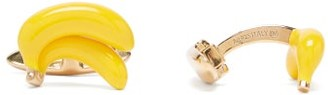 Bottega Veneta Banana 18kt Gold-plated Cufflinks - Yellow