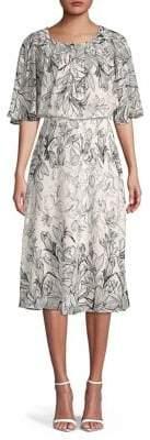 Gabby Skye Floral A-Line Dress