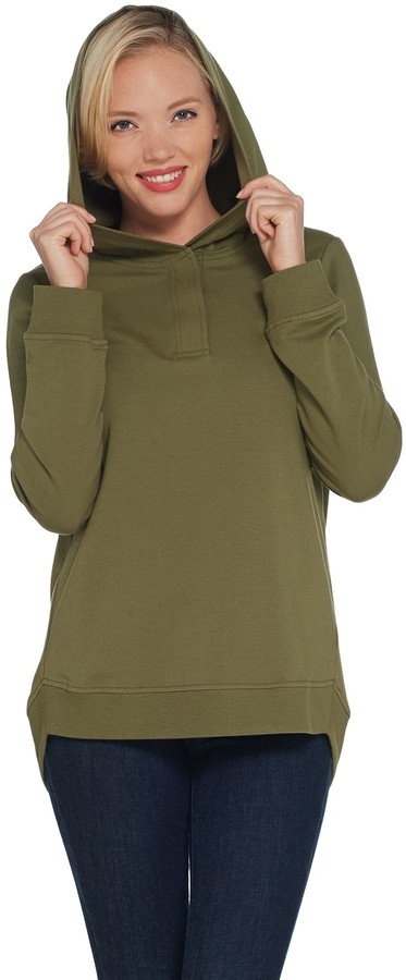 Active French Terry Pullover Tunic with Hood